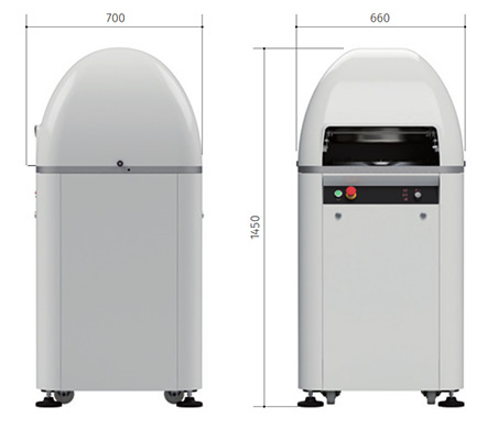 Italian Automatic Bun Divider Rounder dimensions.